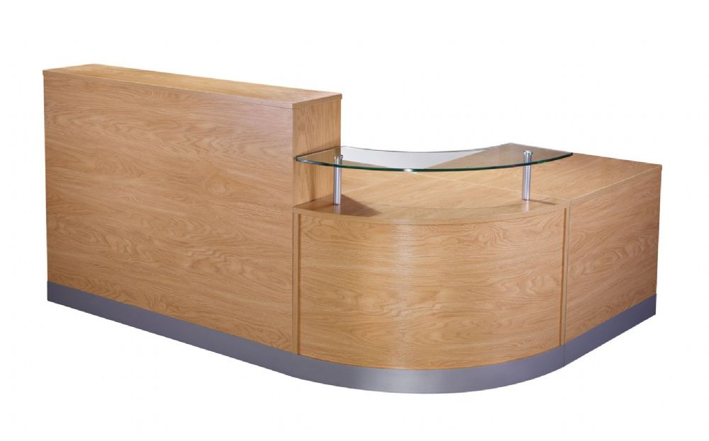 Three Section L Shaped Reception Counter|Dual Heights|Three Sections|800mm Deep|Choice of Finish
